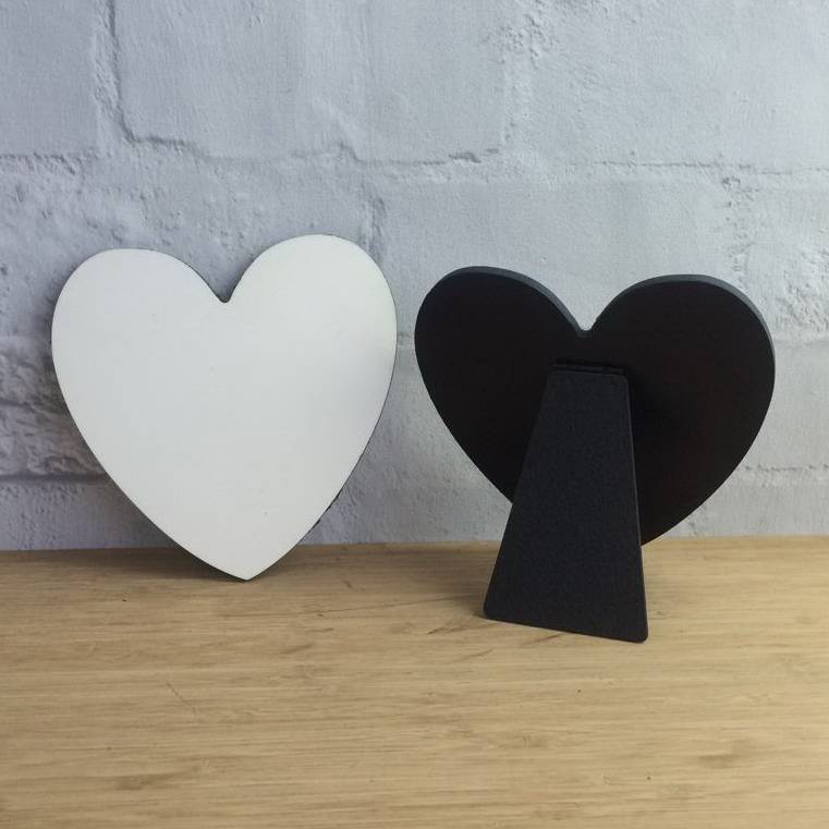 LOVE photo panel heart-shaped for sublimation printing