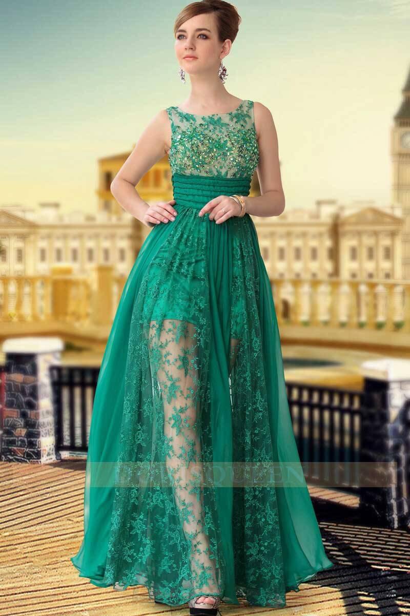DORISQUEEN(DORIS)transparent wear embroid tulle formal dresses 30650