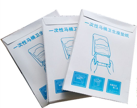 1/4 Fold, Quanter Fold Paper Toilet Seat Cover, Used in Airplane, Cruise Ship, High-Speed Train