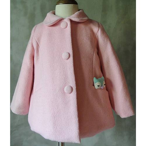 Wholesale new design winter wool coat sale for children girl