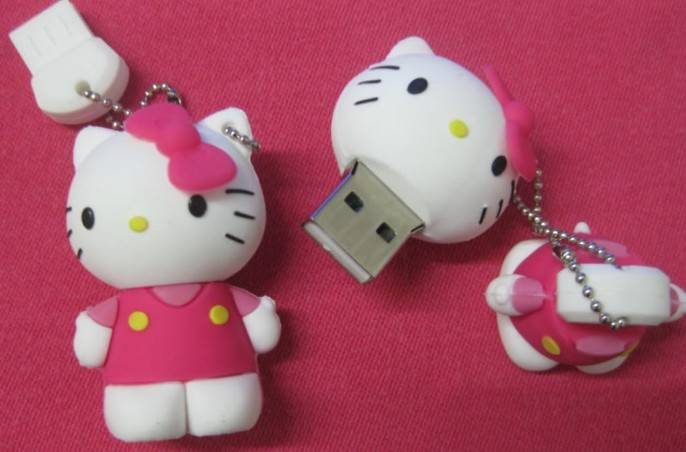 Full Capacity 4GB PVC USB Flash Drives Customized USB Flash Drives