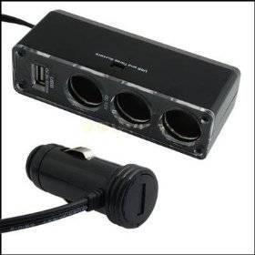 car cigarette socket,USB charger supply and triple socket