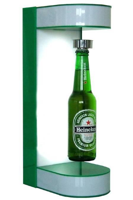 magnetic floating bottle frame