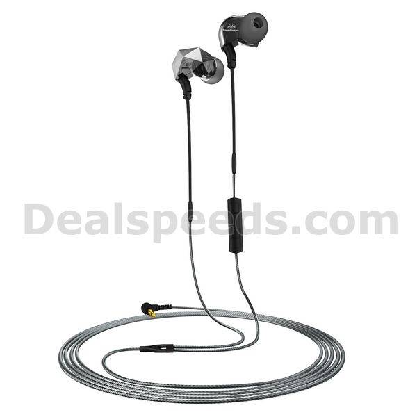 Sound Intone E6 Sports In-Ear Headphones Diamond Earphones with Wire and In-line Microphone/Remote V