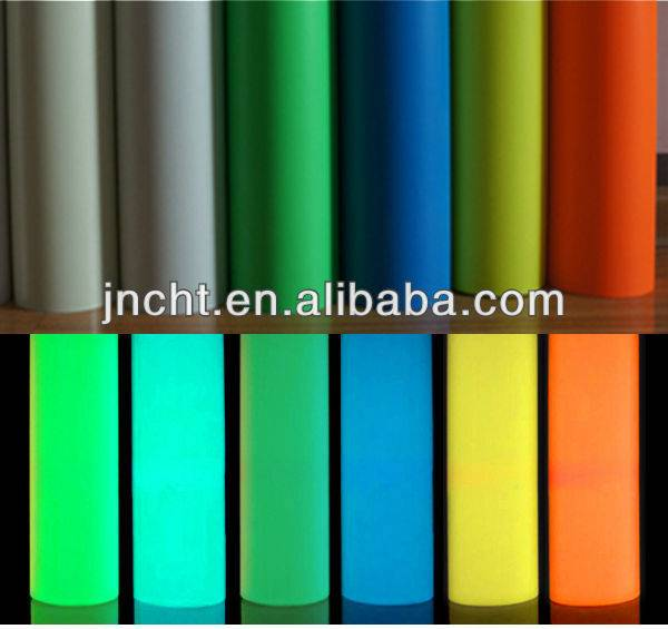 self glow PVC vinyl/photoluminescent film/glow in dark film