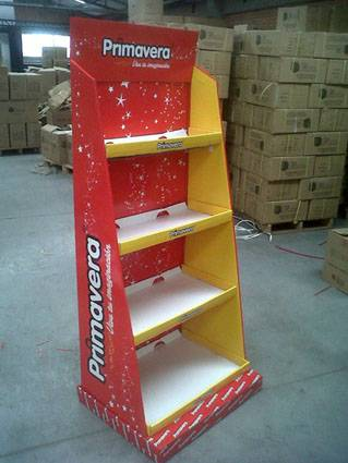 full color paperboard display racks