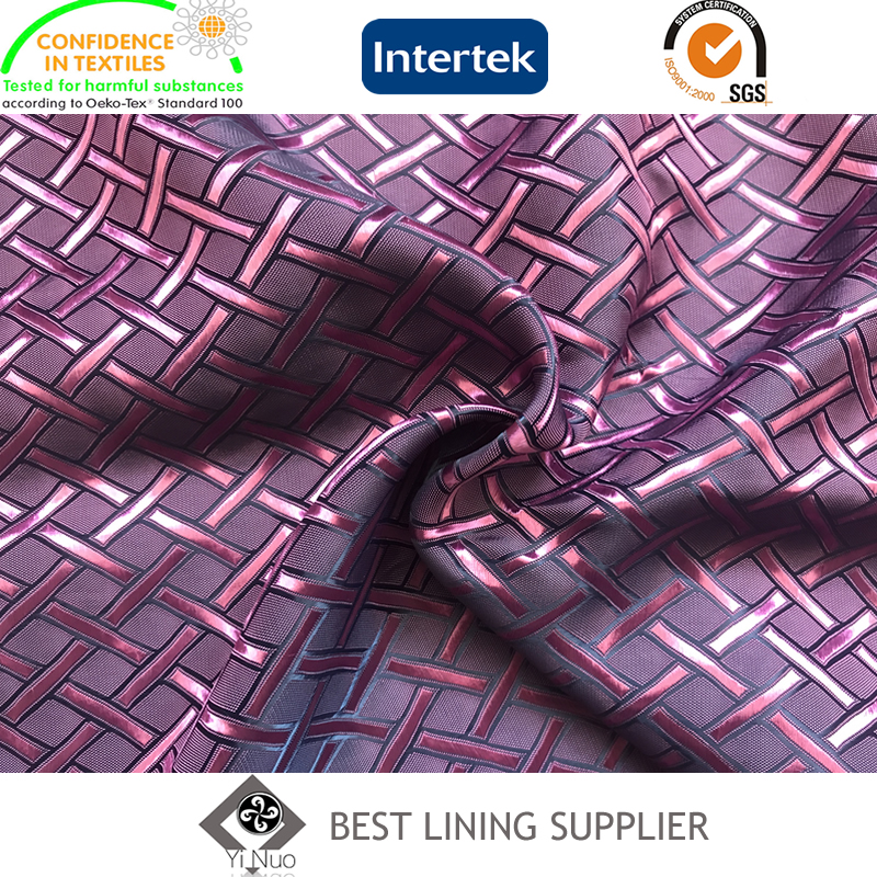 55%polyester 45%viscose men's suit jacquard lining fabric