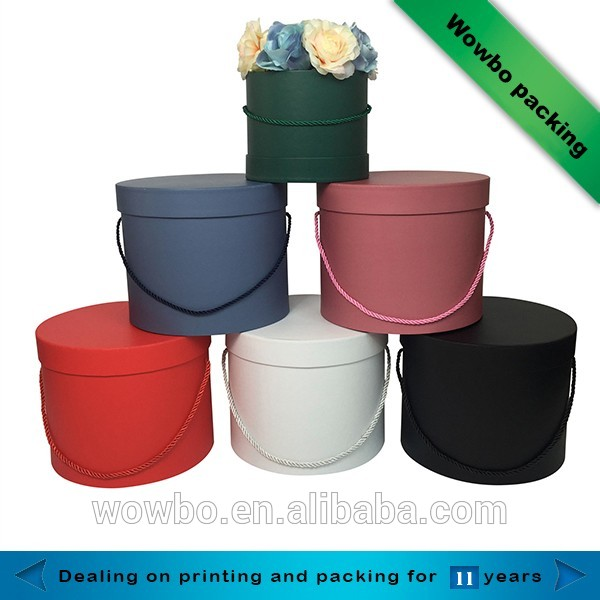 Colorful cardboard round flowers packaging tube boxes