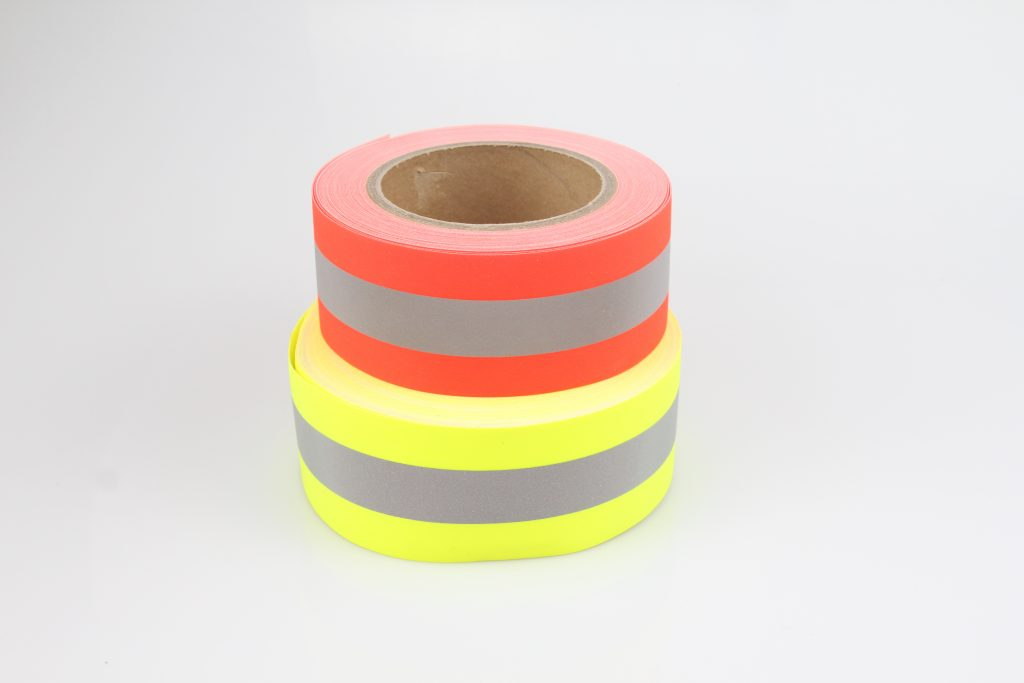 305 - Reflective Flame Retardant Tape Yellow/Orange - Grade B