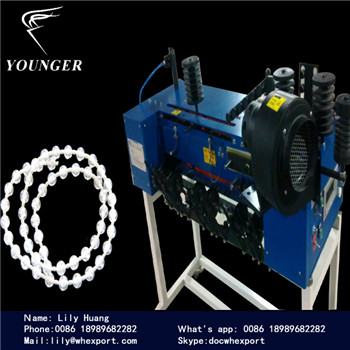Roller Blinds string curtains plastic endless loop thread Ball Chain making Machine