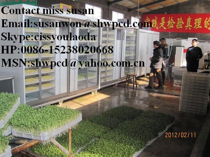 Sale New design patent product wheat or barley or bean growing machine Mobile 0086 15238020668