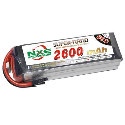 NXE2600mAh-60C-14.8V Softcase RC Helicopter Battery