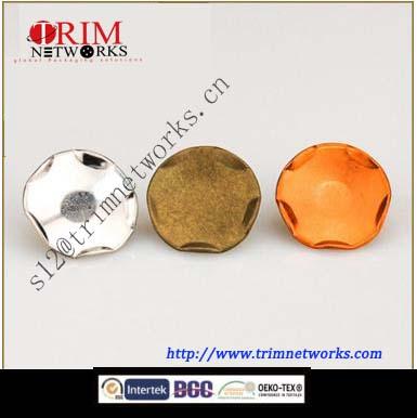 Brass snap 15MM&17MM HVB Orange copper/HVB Nickle/HVB Anti-brass irregular fashion metal button