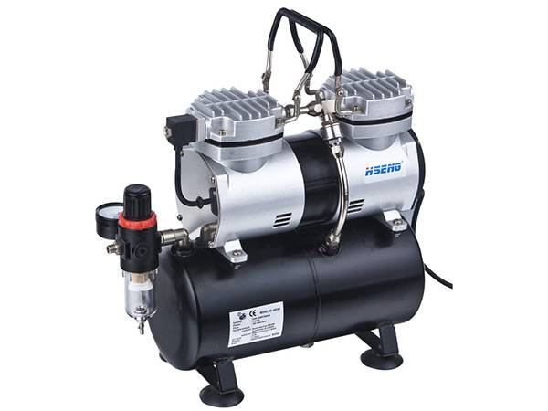 Haosheng Twin Cylinder Piston Compressor With Tank AS196