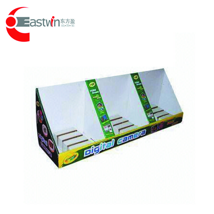 China Promotional paper display shelf