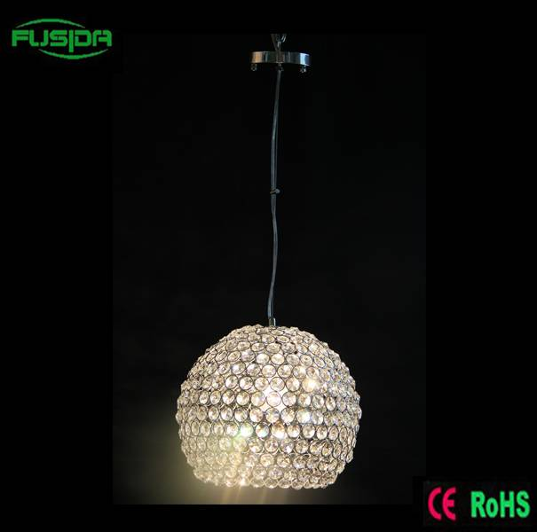 Vintage Round One lamp, Pendant lighting with crystal for Morocco Market