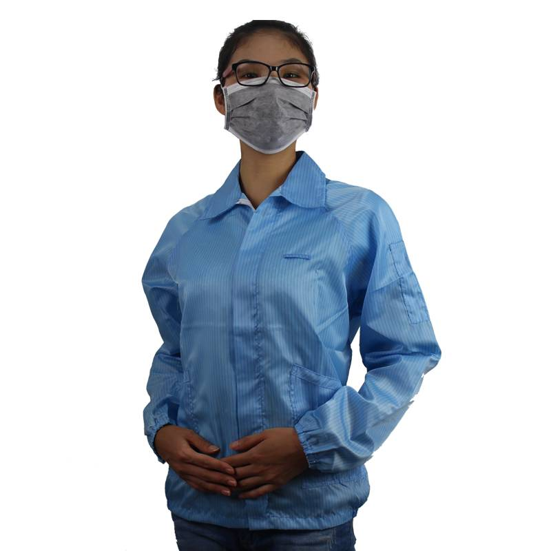 Summer Low Linting Anti Static Lab Jackets Blue Size L China Supplier