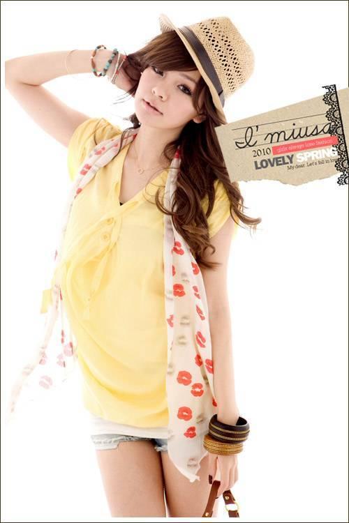 korean fashion and hongkong fashion graceful bright blouse