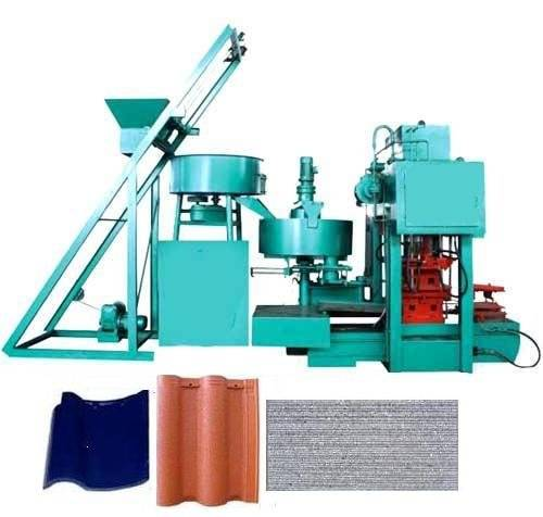 concrete Tiled Roof Making Machine,Roof Cement Tiles Press Machine