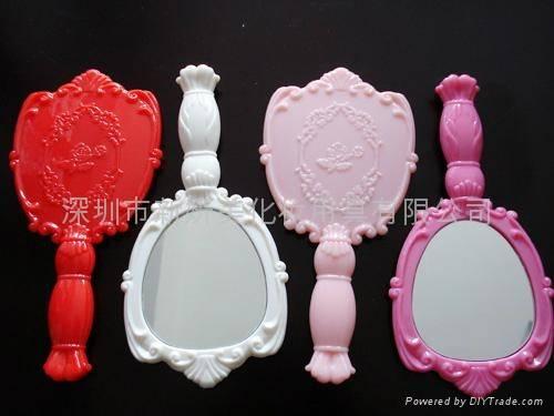 Plastic Handle Makeup Mirror