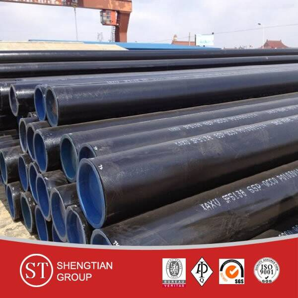 China manufacturer ASTM A106 seamless carbon steel pipe / ASTM API 5L carbon steel pipe / sch40 sch8