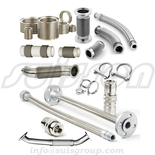 Generator exhaust system, exhaust pipe, flex bellow, metal hose, expansion joints