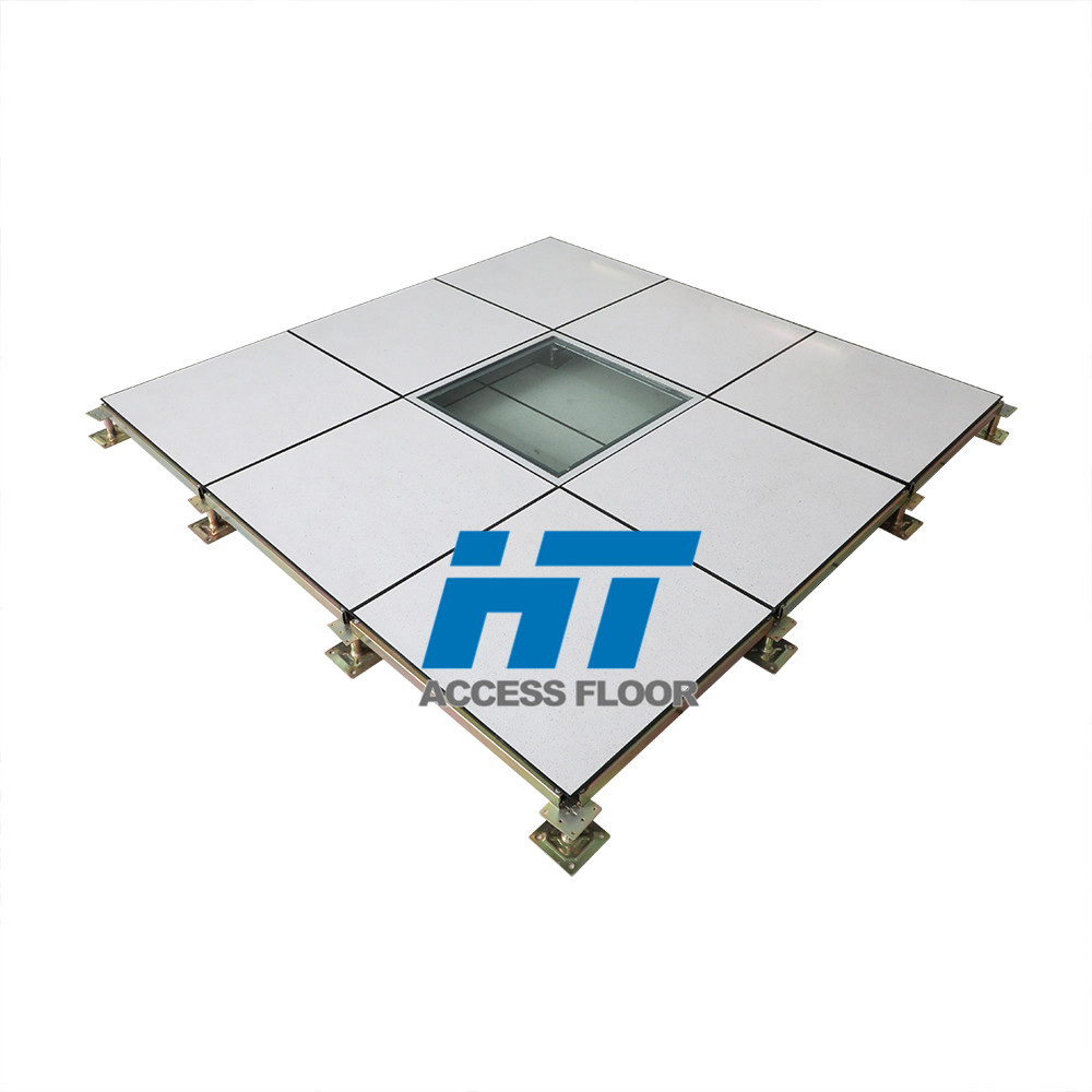 Decoration 600600mm tempered Glass Raised Floor for Office