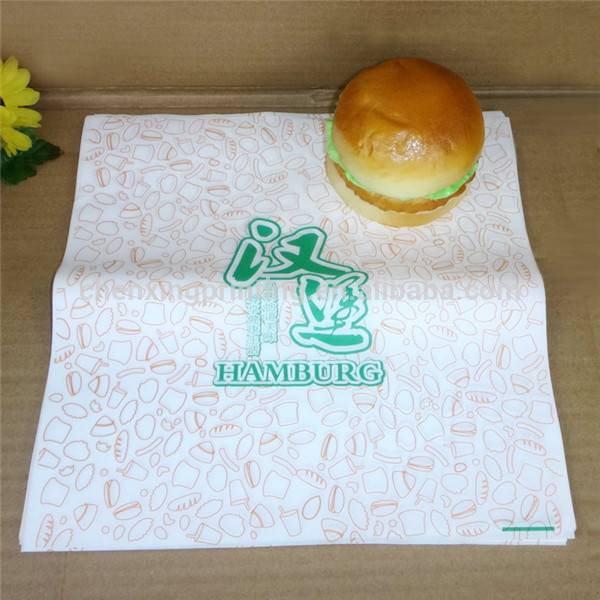 greaseproof paper for sandwich,hamburge wrapping paper