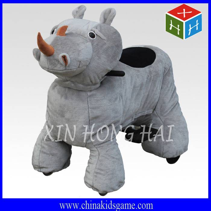 Hot sale amusement park ride plush animal on ride electric animal car coin operate kiddie ride