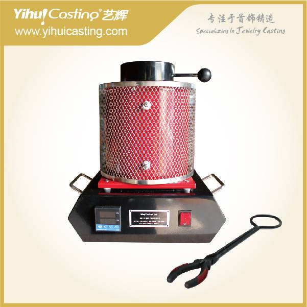 Mini Electric Melting Furance for Jewelry Tool , 2KG 1150C Mini Gold Electric Furnace