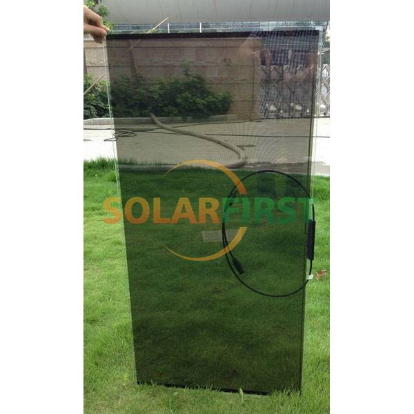 flexible amorphous silicon thin film 10% transparent solar panel