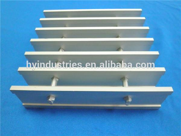 Swaged I bar high-heeled walkway aluminum gratings