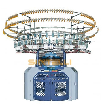 Single Computerized 4/6 Color Auto-Striper Jacquard Knitting Machine