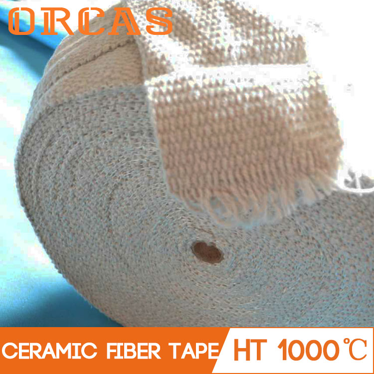 Stainless steel reinforced ceramic fiber insulation tape for pipeline