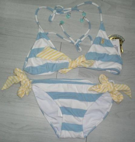 Womens Striped Bikini
