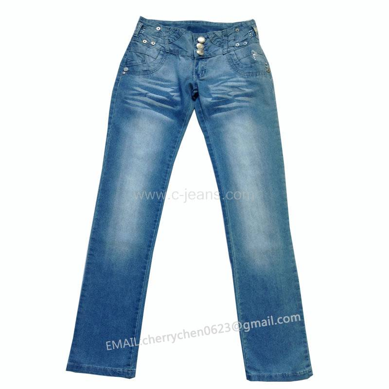 2014 Lady's Newest Fashion Straight Jeans. 2014 Lastest Hotsale Women Jeans