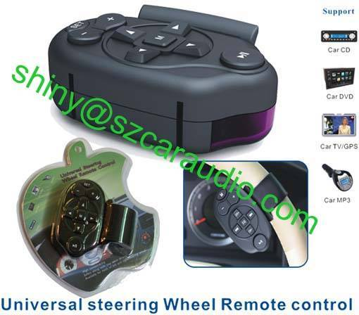 Car Steering Wheel Mounted Replicable Universal learning IR Remote Control for Car DVD