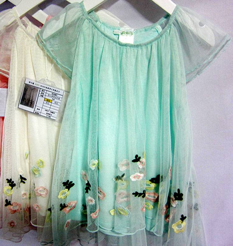 Girls Casual Wear Embroidered Hand Smocked Pregnant Cheap Dresses MY324