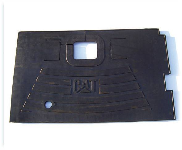 Rubber cab floor mat used for Cat