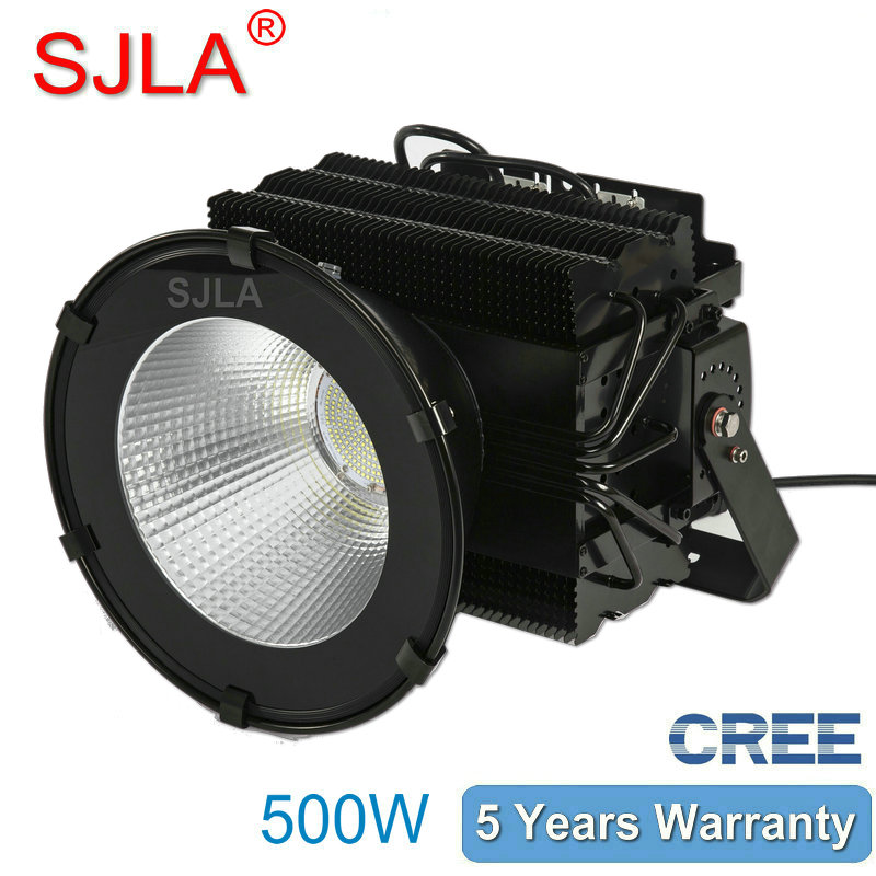 500W Outdoor Led Floodlight IP65 High Bay Light Warehouse Marketplace Workshop lamp 5Years Warranty