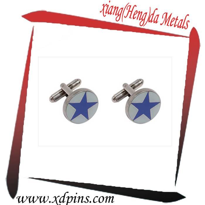 custom metal epoxy coated novelty cufflinks