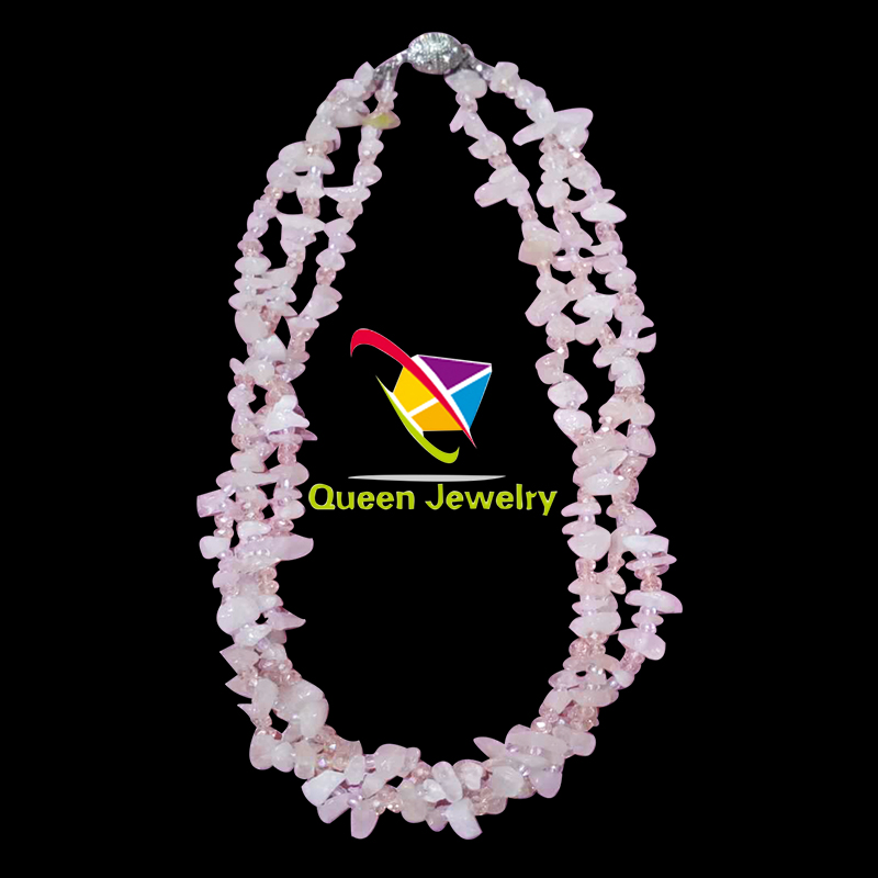 High quality natural white stone handcrafted latest design beads necklace for formal style