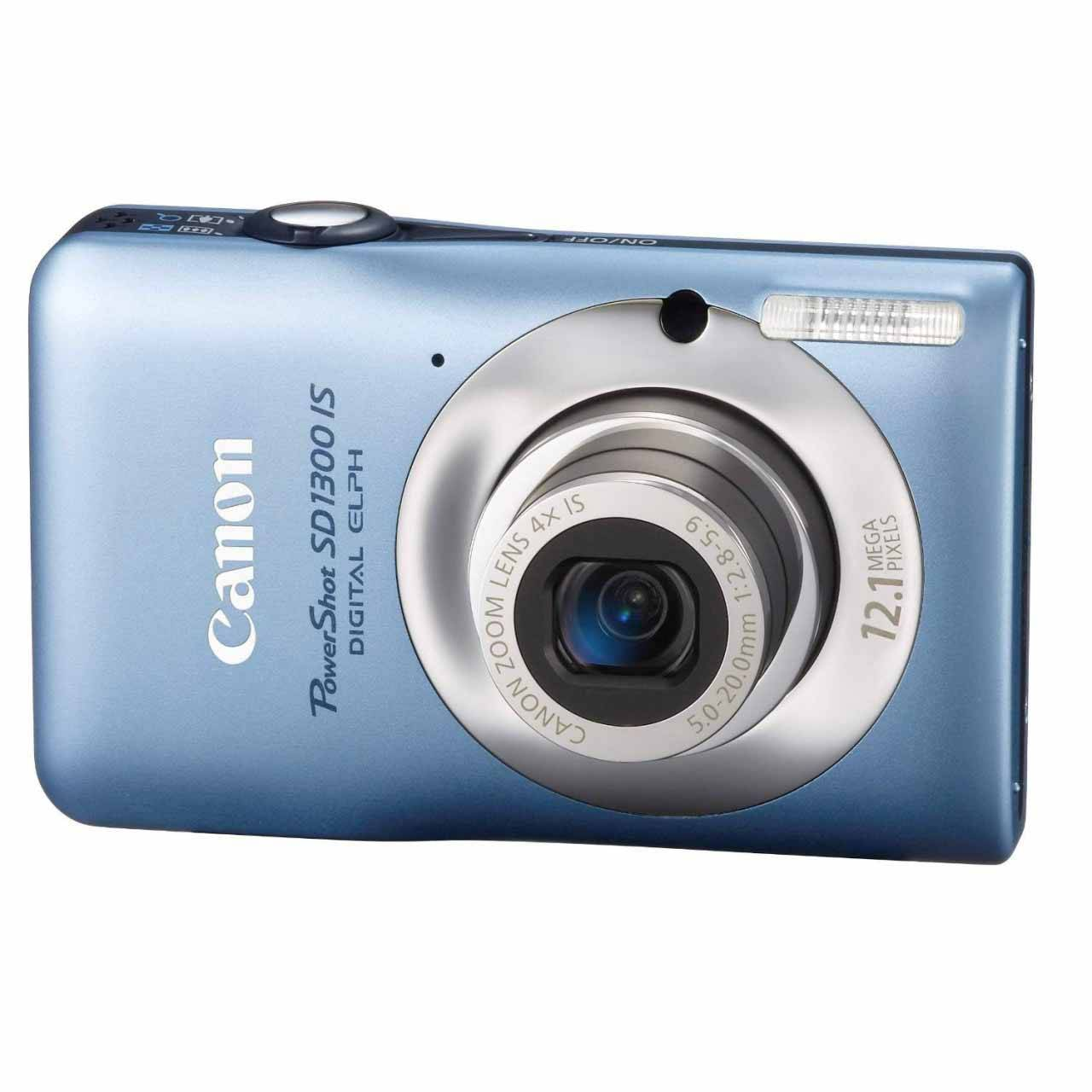 Canon PowerShot SD1300IS 12.1 MP Digital Camera with 4x Wide Angle Optical Image Stabilized Zoom and