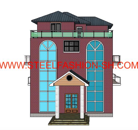 Four-storey light steel villa in Wuhan