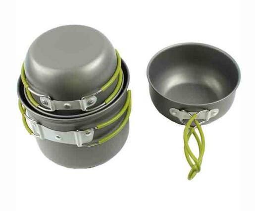 Camping cooking Picnic Bowl Pot Pan Set for outdoor fishing Hiking backpacking trekker