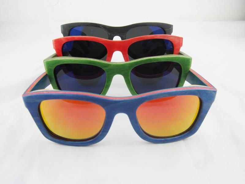 Aviator color wooden custom sunglasses bamboo sunglasses