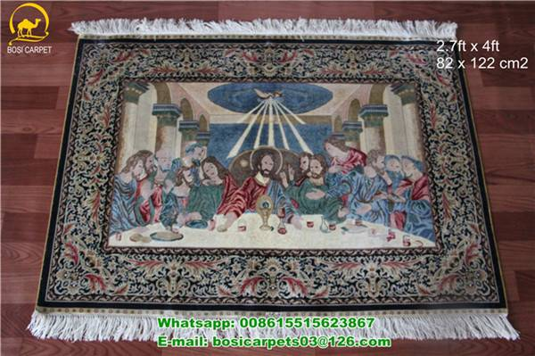 230lines Hanging Carpet small size handmade silk persian carpets oriental rugs