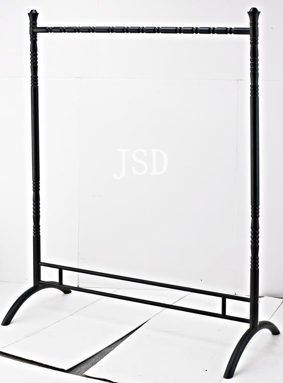 Iron cloth store floor free display rack