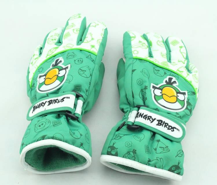angery birds ski glove