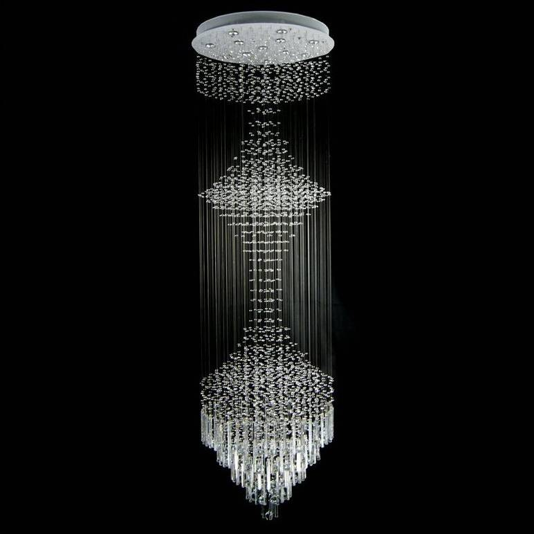 Chinese top k9 crystal chandelier pendant light/lamp 6034-12